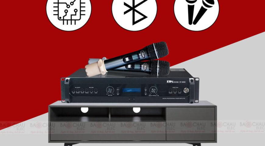 cục đẩy liền vang kèm micro không dây  – King karaoke