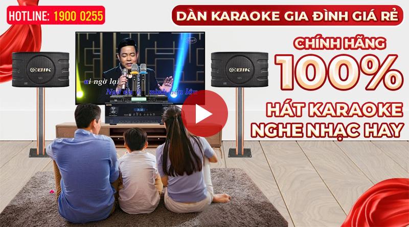 Dàn karaoke gia đình Chính Hãng BIK 15 Japan Nhật Bản, hát hay, giá siêu rẻ, siêu tiết kiệm, Quà to