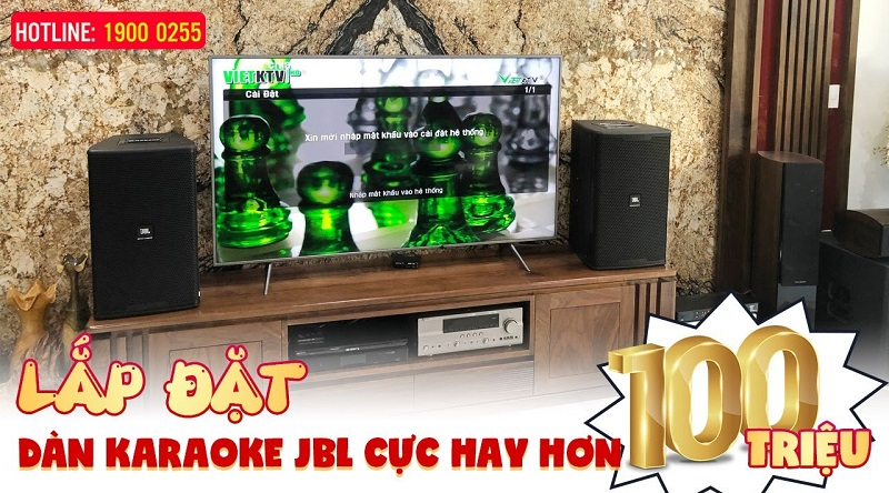 Lắp đặt dàn karaoke JBL Cao Cấp cho gia đình anh Thanh ở Hà Nội , Loa JBL KP6012, Sub bass 40 JBL